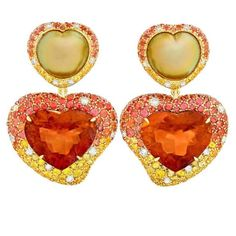 Perfect hearts for your sweet ❤️ Delicious tawny citrine with extraordinary heart shaped intense golden south sea pearls. Guaranteed to bring a smile! Shop Neiman Marcus online (search Margot McKinney) #margotmckinneyjewellery #margotmckinneypearls #valentinesjewellery #preciousjewels @neimanmarcus @emporiumbne