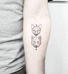 Wolf tattoos on the left inner forearm. Tattoo artist: Matteo...