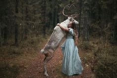 Moscow-based Russian photographer Katerina Plotnikova created these stunning images with the help of real live animals.