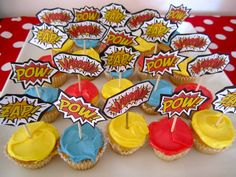 joker cupcakes | Comic Book Superhero Cupcakes | Cupcake Decorating Ideas