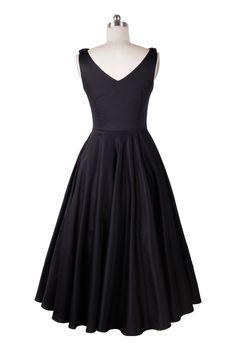 Audrey Hepburn vintage 50 s 60 s vestidos de chá preto elegante casual vestido roupas femininas frete grátis em Vestidos de Roupas e Acessórios no AliExpress.com | Alibaba Group