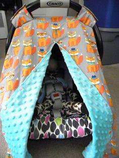 Baby Fox Theme Woodland Nursery Boy Fox Carrier Cover