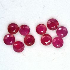6X5 MM Oval Natural Unheated Red Ruby Cabochon 15 Pieces Wholesale Gemstone Lot