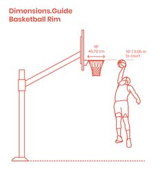 Basketball rims are orange painted goals attached to the backboard in a game of basketball. Basketball rims have an inner diameter of In Ground Basketball Goal, Mini Basketball Hoop, Basketball Backboard, Basketball Shooting, Basketball Goals, Basketball Court, Portable Basketball Hoop, Basketball, Sports