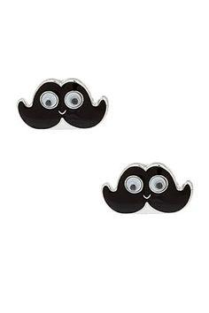 Movember Style | moustache fashion | moustache earrings