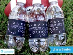 Free Printable Football Drink Wrap Design (she: Melissa) -- perfect for football season!