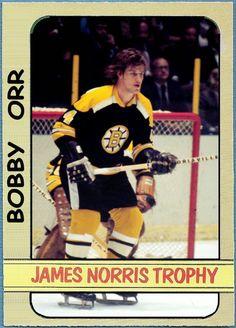 Topps Norris Trophy - Bobby Orr Boston Bruins, Hockey Cards That Never Were Pens Hockey, Hockey Stuff, Stars Hockey, Ice Hockey, Hockey Boards, Bobby Orr, Boston Bruins Hockey, Boston Sports, National Hockey League