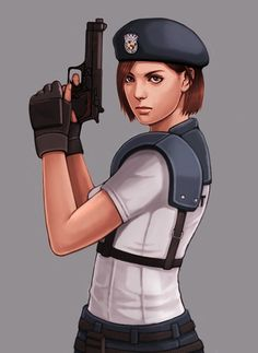 No larger size available Resident Evil Video Game, Resident Evil Girl, Valentine Images, Jill Valentine, Valentine Resident Evil, Jill Sandwich, Video Game Art, Female Characters, Videos
