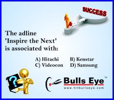 Give your answer at our FB page (www.facebook.com/hitbullseyedotcom). Update your GK for competitive Exam at http://gk.hitbullseye.com/.  Crack CAT 2013 Exam with Study Material of Bulls Eye  (http://mba.hitbullseye.com/cat-2013-study-material)