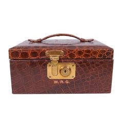 1950's Abercrombie & Fitch Alligator Jewelry Box|: