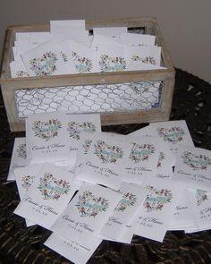 "Flower Seed Packets...Bridal Shower or Wedding Favors for guests....""Watch our love grow"""