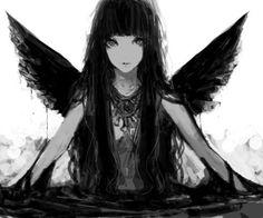 black and white anime girl - Szukaj w Google