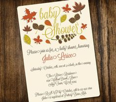 Baby Shower: Fall Themed Baby Shower Invitations To Make Your Divine Baby Shower…