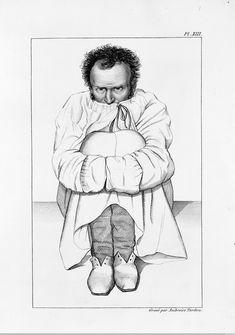 L0011307 Maniac in a strait-jacket, in a French asylum.