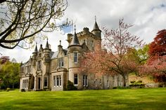 Rothes Glen House, Aberlour, Scotland, worth US 2.31 million dollars!  Rothes Glen House was built in 1893 by the architect Alexander Ross of Inverness, for the Dunbar-Dunbar family whose substantial wealth was derived from a variety of business interests including brewing, shipping and banking. It is an example of the Scottish Baronial   style of architecture and is characterized by a square, central, four-story tower rising one story above the roof line on its eastern façade.
