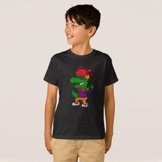 #Dinosaur listening music and dancing T-Shirt - #dino #shirts