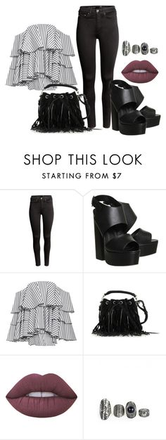 """""""Untitled #527"""" by kat-lawless on Polyvore featuring H&M, Office, Caroline Constas, Yves Saint Laurent and Lime Crime"""