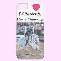 Beautiful painting of a girl in a horseshow with the picture that looks like it is taped onto the phone. Great horse lover gift for that special equestrian in your life.