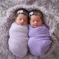 Mama | Baby Infant Stretch Knit Crochet Wrap Photo Prop Newborn Baby Solid Photography Wrap