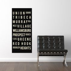 NEW YORK CITY - Canvas Art - Typography Poster - Holiday Gift Guide - Christmas Gifts - Canvas - 16x36