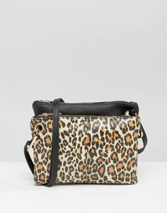 ASOS Double Compartment Leopard Print Cross Body Bag  bag  love   accessories  31 3f1ba38dba5c2