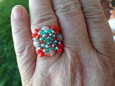 (Tutorial) Solo Beaded Christmas Ring (Video 11) - YouTube