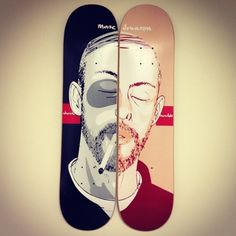 These skateboards look very good seperated and together. I wish i did this with my own designs.