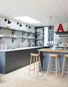 10 Kitchens Without Upper Cabinets Pinterest Kitchen Gallery And House