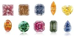 Fancy Color Diamond Cuts and Shapes    Like other diamonds, fancy colored diamonds achieve maximum brilliance when cut to the most ideal and accurate proportions. A good cut gives a fancy diamond its sparkle and helps to bring out the most intense color possible.