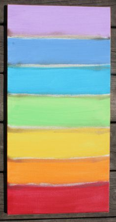 chakra meditation canvas... or as I call it a rainbow painting. Either way it makes me happy!