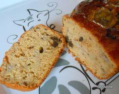 Cake banane-beurre de cacahuètes-chocolat