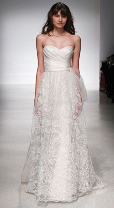 Nevine by Christos, Available at Anna DaFonte Sydney. Strapless gown with draped Silk organza bodice and natural waist. Silk Organza embroidery adorns soft tulle A-line skirt. Available in Ivory/Blush. Used Wedding Dresses, Wedding Dress Styles, Christos Bridal, Bridal Gowns, Wedding Gowns, Wedding Bells, Lace Wedding, Christian Dior, Christian Louboutin