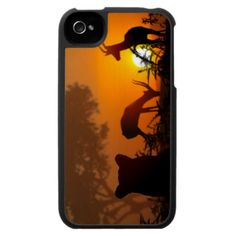 Lion Hunt iPhone 4 Covers lovely!! gazelle