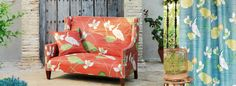 Sanderson - Voyage of Discovery Fabrics Sanderson Fabric, Curtain Fabric, Wingback Chair, Soft Furnishings, Accent Chairs, Upholstery, New Homes, Colours, Discovery