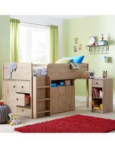Kidspace Finsbury Cabin Station with Optional Mattress | very.co.uk