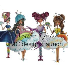 Weather Girls Digi Stamps by JMC Designs. Perfect for the colouring enthusiast and paper crafter alike Adult Coloring, Colouring, Blue Fairy, Black And White Lines, Create Image, Ways Of Seeing, Digi Stamps, Line Drawing, Make You Smile