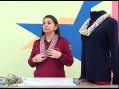 Poncho Fatima em tricô com Cisne Motitas, por Cristina Amaduro - YouTube