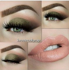 Fall makeup for green eyes