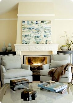 Maybe I can have 2 chairs in my living room with the giant fireplace/built-in covered wall.