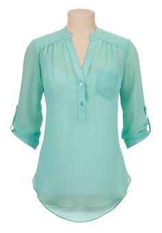 Love this blouse. Love the color, love the pocket, love the neckline. Would prefer long sleeves as an option but I can work with three quarters. Work Attire, Corsage, Fashion Outfits, Womens Fashion, Spring Outfits, What To Wear, Style Me, Cute Outfits, Clothes For Women