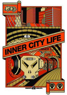 Metalheadz Underground Concrete, Squat, Drum, Bass, Posters, Graphics, Creative, Music, Block Prints