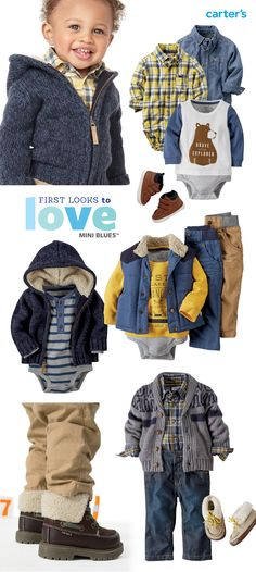 Boys in blues! And we've already made little outfits for you. Check out all his stylish collections.