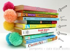 Paperclip & pompom bookmarks ... ♥