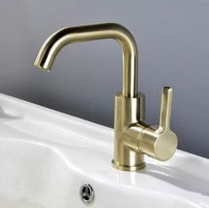 Brass Nickel Brushed Golden Rotatable Mixer Basin Tap Bathroom Sink Tap TA0188G