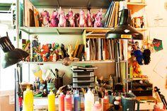 The studio of artist Tim Biskup