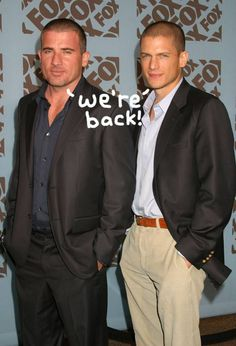 Wentworth Miller & Dominic Purcell Are Both Returning For A Prison Break Reboot!
