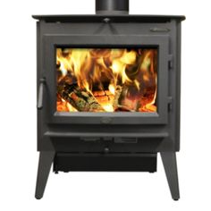 Evergreen Wood Stove by Lopi (Leg model). Heats up to 2,000 sq. ft. Available from Rich's.