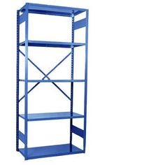 "Equipto V-Grip 84"" Shelving Unit - Open Starter - with 5 Shelves Finish: Textured Blue, Size: 84"" H x 36"" W x 18"" D"