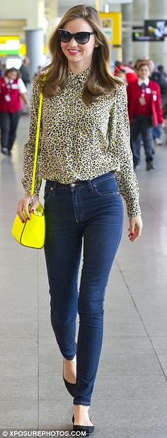 Jet set lifestyle: The model touched down at JFK airport in New York on Friday after a trip to Seoul