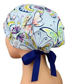 89099a1b27b Scrub Hats for Women Small to Medium with Ribbon Ties   Etsy Custom Fitted  Hats,